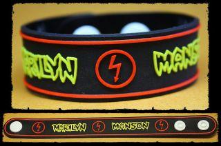 MARILYN MANSON Rubber Bracelet Wristband Born Villain Yellow