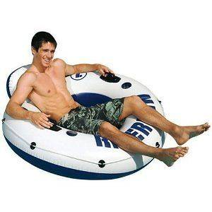 Intex River Run Inflatable Floating Swimming Pool Lake Tube Float Raft