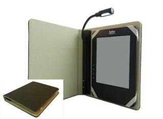 Kobo Borders Chapters Wi Fi eReader Case w/ Built in NEVER LOSE Light