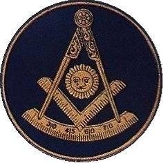 Masonic Past Master Car Auto Emblem (Dark Blue)