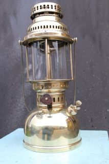 ANTIQUE Sweden KEROSENE LANTERN gas LAMP Optimus 300 BRASS excellent