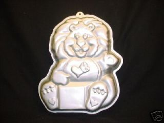 1984 WILTON CAKE PAN MOLD METAL CARE BEARS BRAVE HEART LION VINTAGE