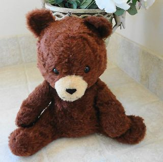 ANIMAL FAIR Chestnut Brown Plush Stuffed Sitting Teddy Bear Animal Toy