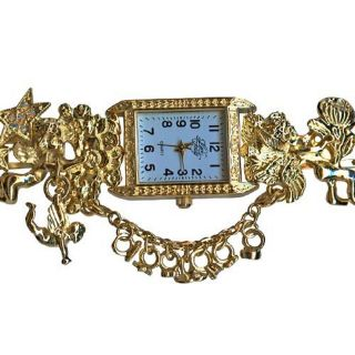 Boxed Kirks Folly Secret Of Seven Angels Watch (Goldtone)