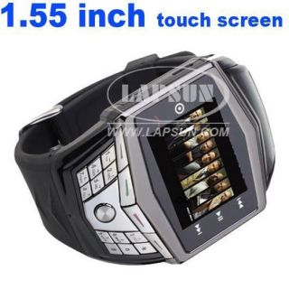 Unlocked Touch Screen GSM Mobile Wrist Watch Cell Phone Hidden Camera