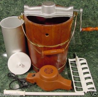 Old Fashioned ICE CREAM MAKER 6QT Electric or Hand NEW