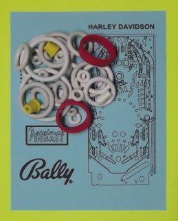1991 Bally / Midway Harley Davidson pinball rubber rings kit
