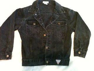 Size 12 Womens Black Blue jean jacket Denim Gorgeous Guess Georges