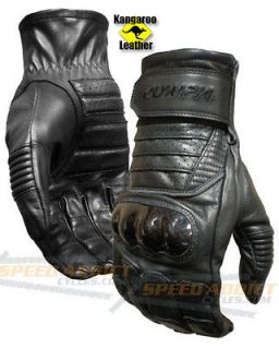 Olympia 470 Mens Kangaroo Curve Leather Sport Bike Motorcycle Gloves