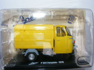 Piaggio Ape 3 wheel YELLOW van P601 furgone 1978 1:32 05