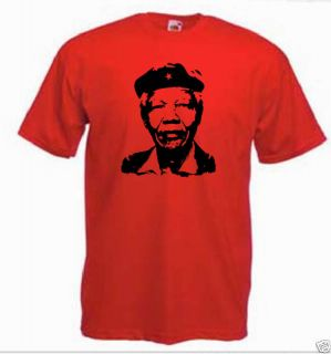 Nelson Mandela in Che Guevara style t shirt *ALL SIZES*