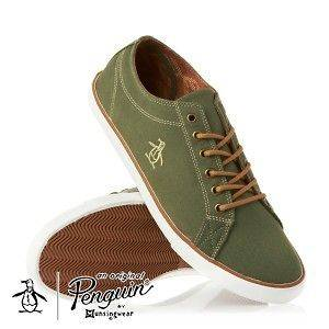 penguin brewton mens trainers shoes rifle green location united