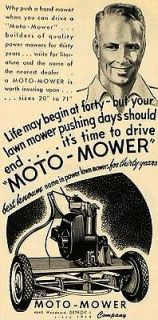 1949 Ad Moto Mower Co. Tools Cutting Grass Machine   ORIGINAL