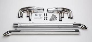 Patriot Exhaust H1175 Side Exhaust Lake Pipe 4 Steel Chrome 3.5 in