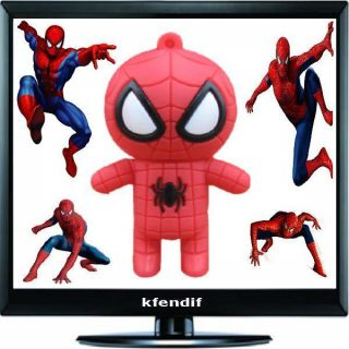 4GB Cute Spider Man design USB Flash Drive Memory Stick 4G KFU147C `