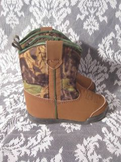 ADORABLE Infant Toddler Boy Size 5 Camo Cowboy Boots EUC!!