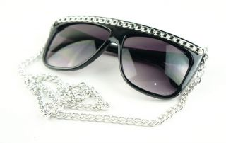 Lady GAGA SUNGLASSES MIRROR shade eyewears glasses frame 1010D BLACK