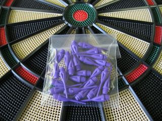 PURPLE Dimpled DART TIPS for All Electronic Dart Boards 1/4 Thread