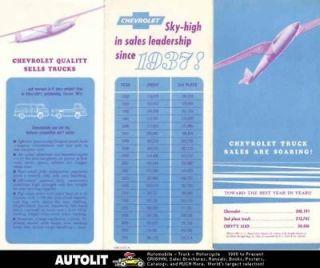 1962 Chevrolet Truck Appointment Calendar Brochure