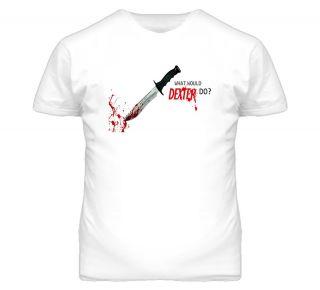 New Dexter Morgan What Would Dexter Do TV Serial Killer White T Shirt