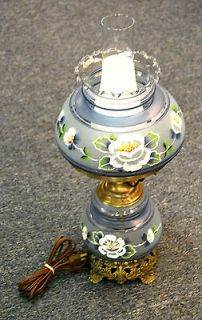 Gone With The Wind Hurricane Lamp Lights Vintage Pair ...