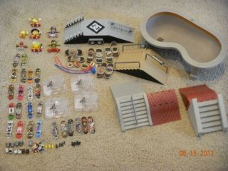 of Tech Deck, Tony Hawk, DC and X Games ramps dudes fingerboards pool