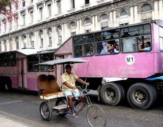 Undated CUBA Street Scene PHOTO Taxi PEDICAB