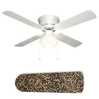 Ceiling Fan with Lamp   Jungle Leopard Cheetah Animal Print