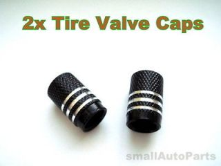 BLACK ALUMiNUM with Chrome Tire/Wheel VALVE Stem CAPS COVERS for