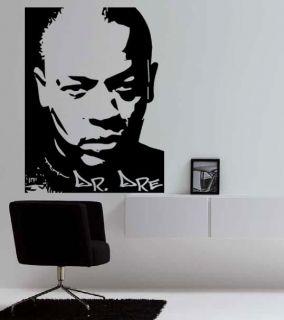 DR DRE Studio Beats Portrait Hip Hop Rap Tribute Wall Art Vinyl