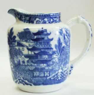 Wedgwood Blue Willow Creamer circa 1900 great condition
