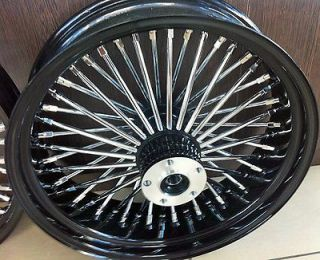 FAT SPOKE 16 FRONT WHEEL BLACK 16 X 3.5 DUAL HARLEY FLHT FLHTC