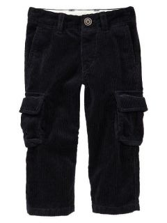 NWT Mens Club Navy Blue Cargo Corduroy Pants 12 18 24 Months 2 3 4 5