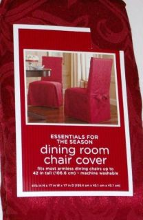 Rich Red Dining Room Chair Cover Brocade Slipcover