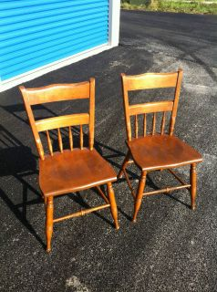 Ethan Allen Baumritter Heirloom Maple Dining Chairs 2