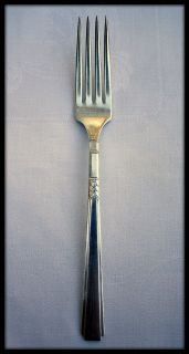 Oneida Wm. A Rogers Capri 1935 Dinner Fork Triple Silverplate Art Deco