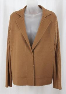 LORO PIANA LUGGAGE CASHMERE CARDIGAN SWEATER JACKET SZ 50/16