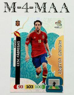 New Adrenalyn XL UEFA EURO 2012 CESC FABREGAS Limited Edition PANINI