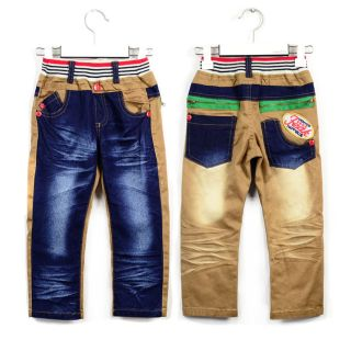 Blue Individuation Denim Jeans Boys Kids Skinny Jeans Size 3 8 Years
