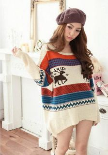 Ladies Casual Loose Asymmetric Knit Coat Top Sweater Cardigan Pullover