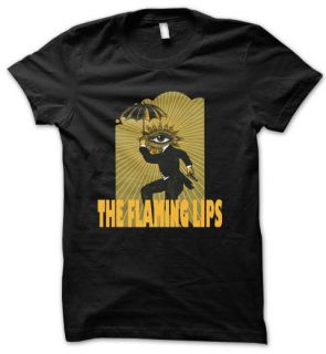 THE FLAMING LIPS Alternative Rock Band Mens T Shirt Black