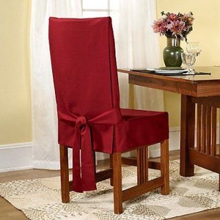 Fit 139725247_CLRET Duck Solid Short Dining Room Chair Cover Claret