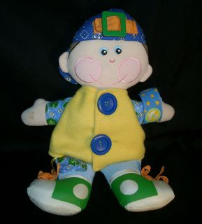 DAPPER DAN 2001 PLAYSKOOL LEARNING DRESS UP TEACHING DOLL STUFFED