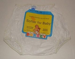 Vintage Baby Plastic Rubber Dorsey Waterproof Pants Diaper Cover with