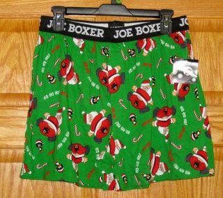 New Mens Jersey Knit Boxer Underwear •Joe Boxer• X Mas Theme •S