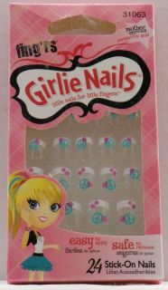 Fingrs Girlie Nails   Peace Sign & Flower 31063