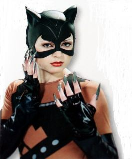 Cat Woman CATMASK CAT HALF MASK GLOVES FINGER NAILS Womens COSTUME SET