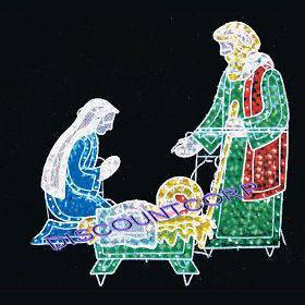 Outdoor Lighted Nativity Scene Decoration http://www.popscreen.com/p/MTU3MjE0NjIx/-Nativity-Scene-Metal-Outdoor-Christmas-Yard-Decorations-New