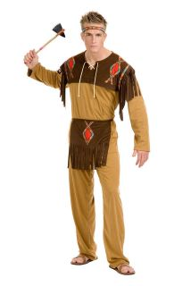 Native American Indian Mascot Costume Fancy Dress