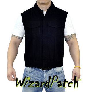 HEAVY DENIM BIKER VEST BY ANARCHY 100% AUTHENTIC OUTLAW VEST